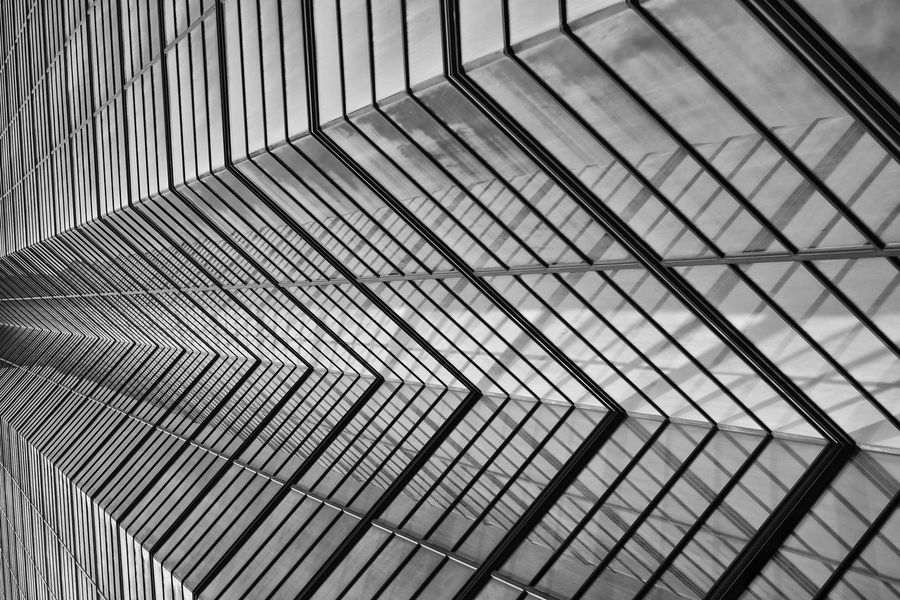 Geometry The Architect - 2017 EyeEm Awards EyeEm Best Shots The Minimals (less Edit Juxt Photography) Architecture Building Built Structure Glass Pattern Metal Full Frame Backgrounds Corrugated Iron Close-up LINE Geometric Shape Tower Fukuoka Architecture_collection Blackandwhite EyeEm Best Shots - Black + White Bnw City Monument No People Outdoors