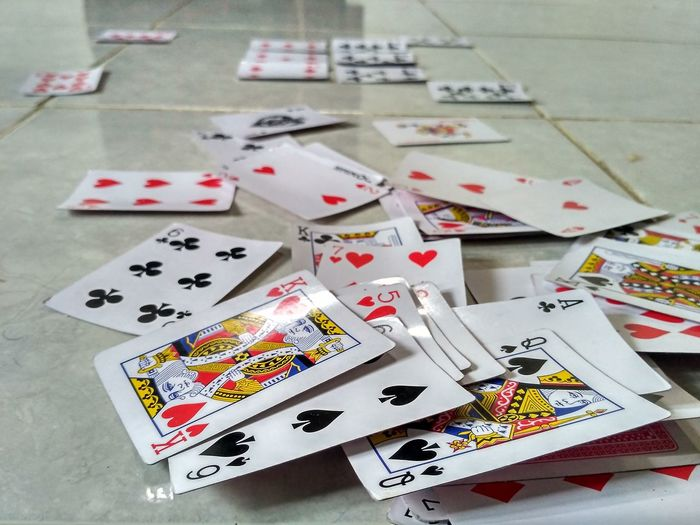 Cards Poker - Card Game Leisure Games No People Indoors  Multi Colored Playing Cards Leisure Activity