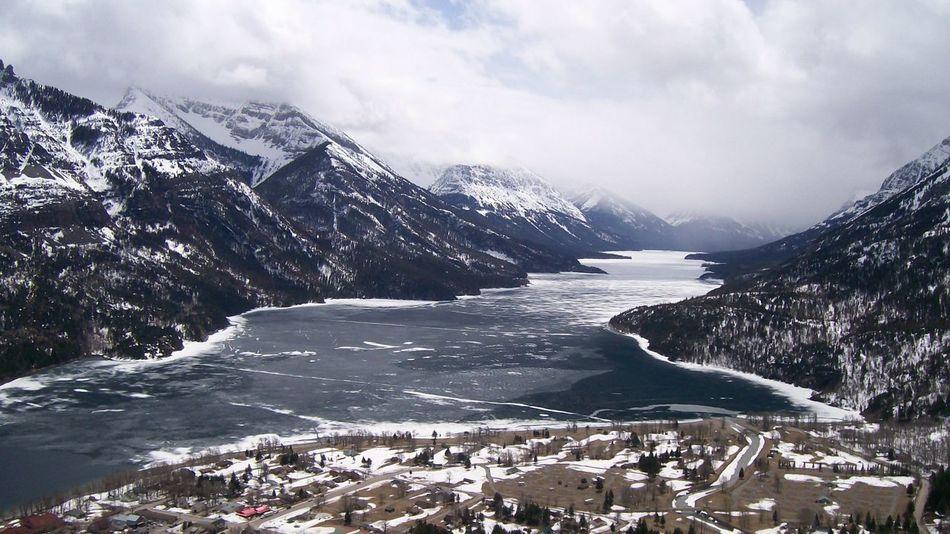 Mountain Snow Lake Waterton Lakes National Park Canada