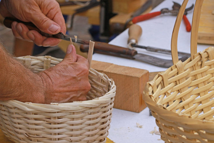 Basket Carpenter Tools Focus On Foreground Forming Handmade Hands Hands At Work Men Modeling People Working Person Tools Tools Of The Trade Wicker Wicker Basket Working Working Hard
