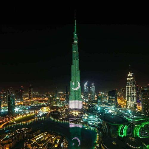 Burj Khalifa Pakistan Flag