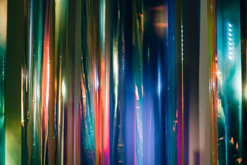 art Multi Colored Full Frame Indoors  Backgrounds No People Side By Side Pattern Choice Variation Close-up Textile Large Group Of Objects In A Row Hanging Arrangement Still Life Curtain Collection Shiny Abundance