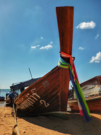 Spotted In Thailand in Koh Lanta Thailand Boats Long Boat Tradition Traditional Scenic Colour Beach Iconic Culture Sand Colourful Fishing Village Fishing Boat Travel Thai Long Boats Showcase April Eye4photography  EyeEm Best Shots EyeEm The Week On EyeEm