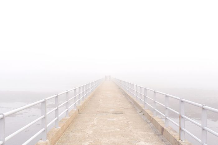 Roscoff Fog Bridge In Fog Mystery Unknown White White Light Edge Of Sea Edge Of Unknown Bretagne Visual Creativity