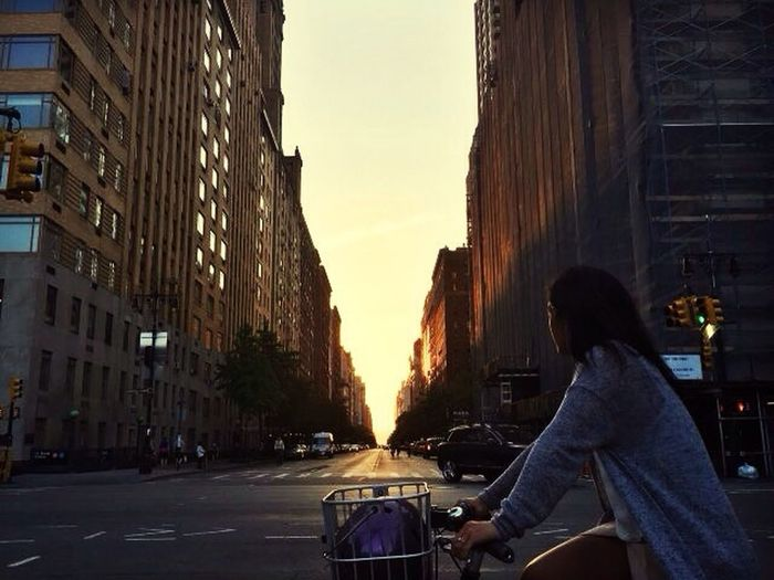 City Only Women Adults Only One Woman Only One Person Street Built Structure City Street Adult City Life Sky Transportation One Young Woman Only Women Rear View People Real People Leisure Activity Travel Destinations Sunset