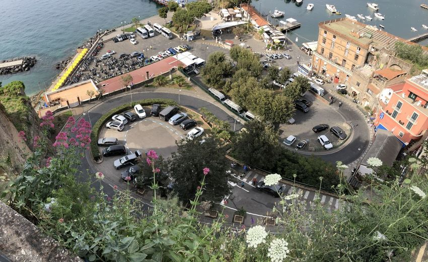 Sorrento port view from the upper city Adventures In The City Architecture Building Exterior Built Structure City High Angle View Land Vehicle Lively City Motor Vehicle Plant Road From Above Roof Transportation Water