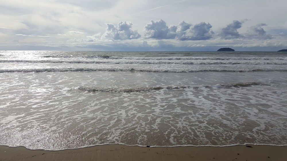 Sea Water Wave Nature Beach No People Beauty In Nature Outdoors Sky Horizon Over Water Day Beach Photography Sand Kota Kinabalu Sabah Borneo The Great Outdoors - 2017 EyeEm Awards