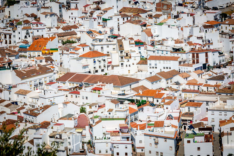 White is my color - Ojén village (Ojén, ES, 2017) #Andalousia #España #FromAbove #Village #White Architecture Building Exterior Built Structure City Cityscape Community Crowded Day Full Frame High Angle View House Outdoors People Residential Building Roof Sky Tiled Roof  Town