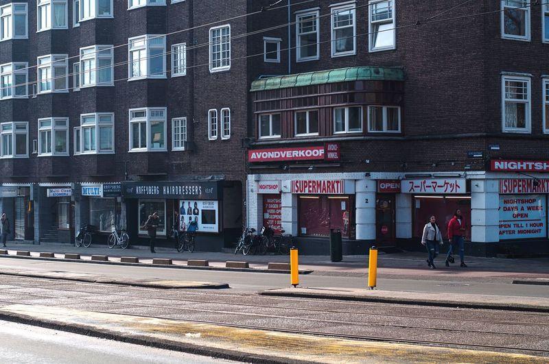 Streetphotography Amsterdam Shop People Building Exterior Architecture Outdoors Road Nikon Eye4photography  EyeEm Best Shots Supermarket Heardresser Multi Clean