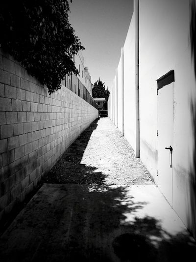 Blackandwhite BW_photography Black And White Bw_collection Black & White Urban Geometry Bw High Contrast City Blackandwhite Photography Water Sky Architecture vanishing point Alley Passageway Bad Condition Run-down Diminishing Perspective Weathered Ruined Narrow Pathway Deterioration Damaged The Way Forward
