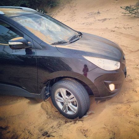 Got stuck in a Desert in the middle of nowhere. Took an hour-long to get out. LOL Adventures UAE