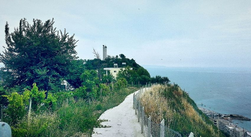 Hill Sea Seaside Lighthouse Hillside Hillclimb Discover Your City Nature Durres