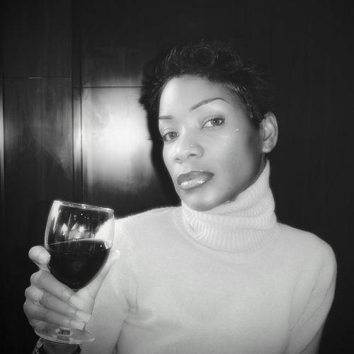 Portrait Of Woman Holding Wineglass