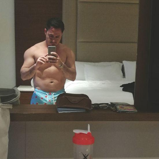 Athlete Muscular Build Sport Healthy Lifestyle Exercising Shirtless Sportsman Gym Men Health Club