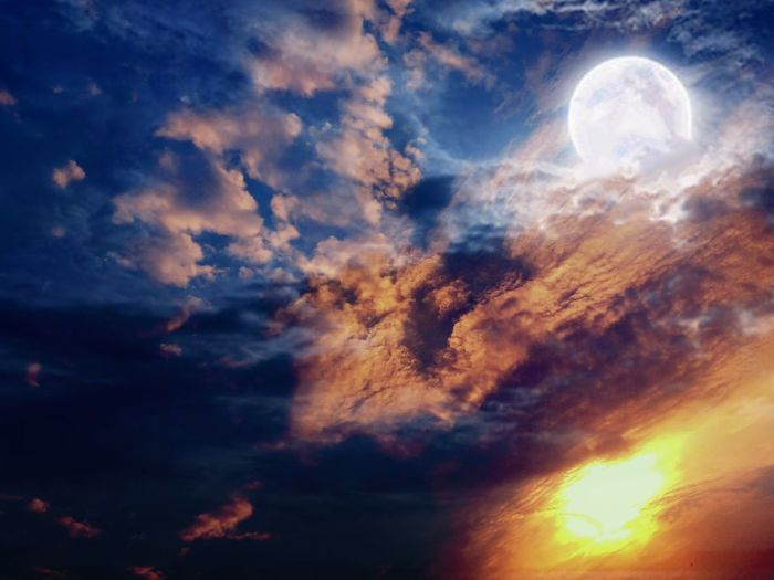Sun And Moon In One Frame Eyeem