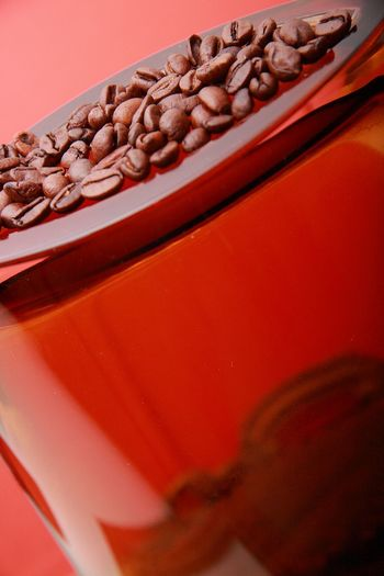 Coffee Lover Coffee Beans Coffee Red Art Coffee Bean Glass