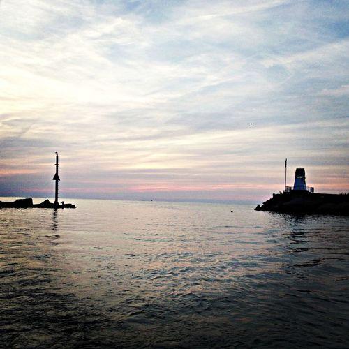 Lake Erie night time view.