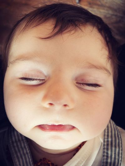 satisfied baby sleeping Sleeping Baby  Baby Pleased Satisfaction Satisfied  One Person Eyes Closed  Front View Portrait Human Body Part Real People Human Face Headshot Close-up Child Indoors  Childhood Offspring Relaxation