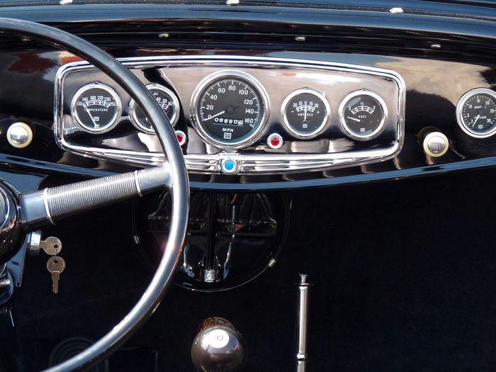 Hot Rod Mode Of Transportation Transportation Control Panel Car Vehicle Interior Motor Vehicle Speedometer Car Interior Dashboard Vintage Car Retro Styled