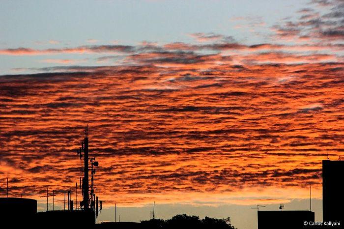 Fim de tarde. Sunset Sky No People Cloud - Sky Day Céus E Nuvens Photoshoot Brasilia♡ Photography Foto Fotografia Brasília Minha♥ Photo
