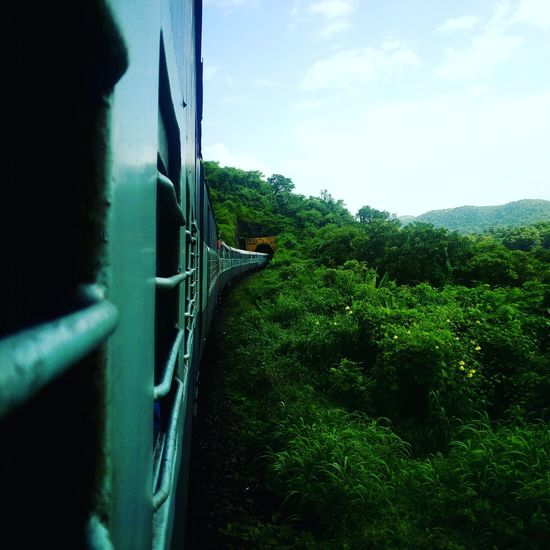 Green Color Sky Outdoors Cloud - Sky Nature Indianrailways Letv Le 1s Camera Tunnel View Konkandiaries Konkan Railway Konkan Railways