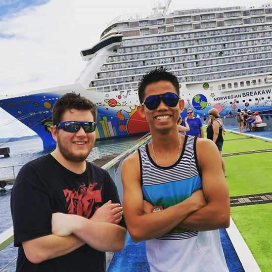 With my bro @spencerdeanpeters in Fort-de-France, Martinique. Feelfree Feelfreetopose Ncl Norwegiancruiseline NorwegianBreakaway