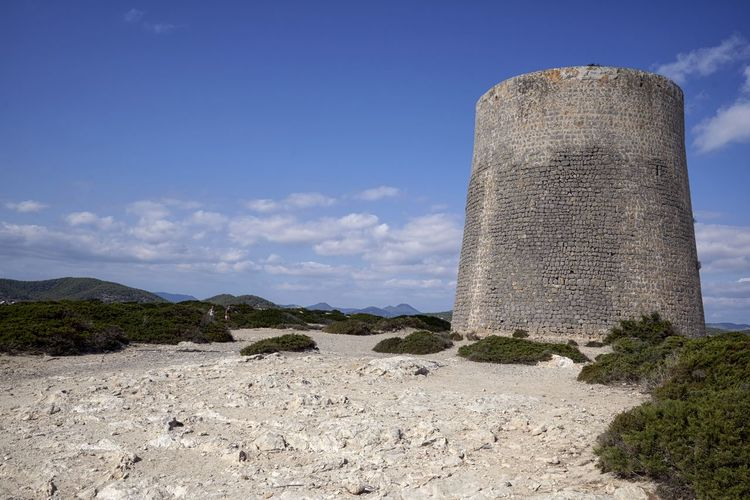 Torre Ses Salines, Ibiza Copy Space Ibiza Ibiza, Spain Ses Salines Turm Architecture Building Exterior Built Structure Day Ibiza Beach Industry Nature No People Outdoors Scenics Sky Torre
