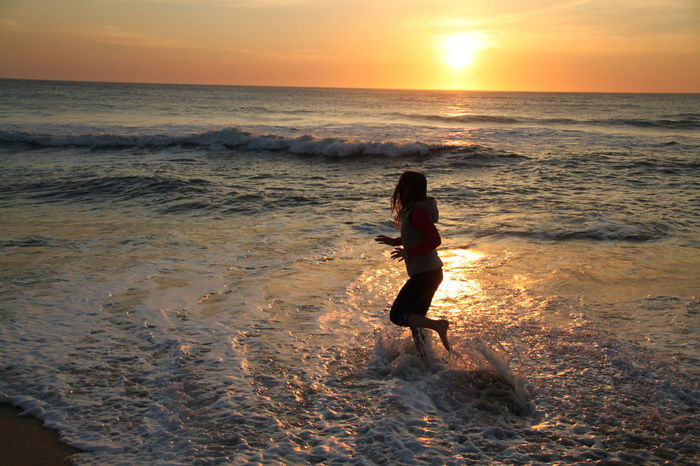 Beach Carefree Escapism Getting Away From It All Horizon Over Water Light Motion People Of The Oceans Outdoors Rippled Sea Seascape Shore Splashing Surf Vacations Water Waterfront Wave Weekend Activities Running Action Beach Life Beach Photography Movement