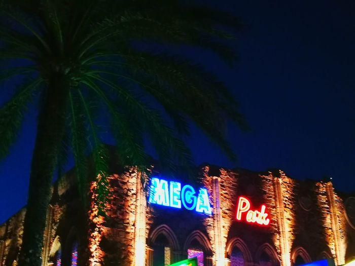 Mega Park Mallorca Illuminated Architecture Night Neon Outdoors Sky Palm Tree Bar - Drink Establishment Just For Fun SPAIN