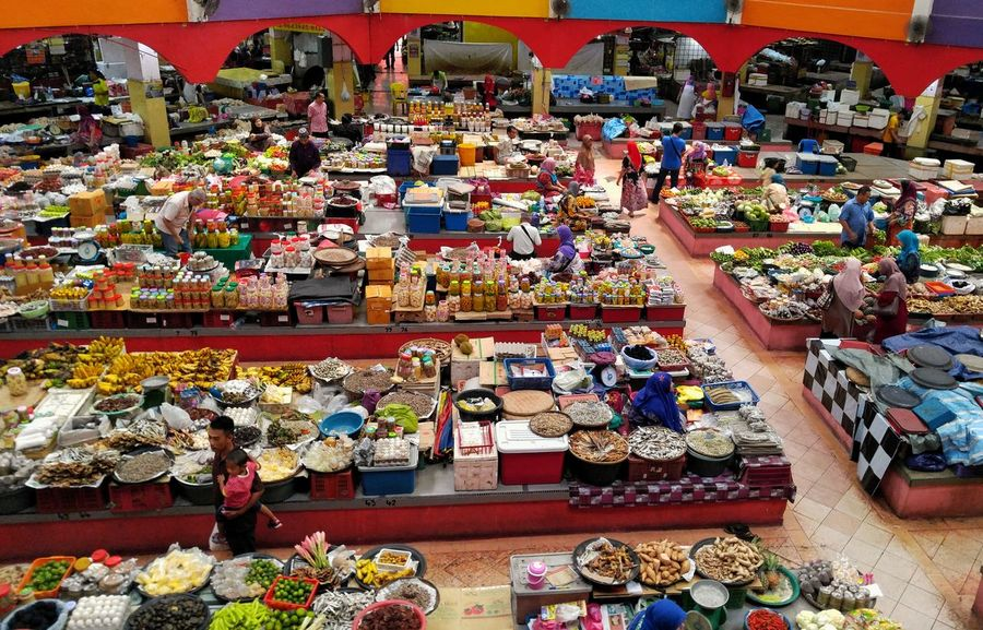 Variation For Sale Large Group Of Objects Choice Market Stall Retail  Market High Angle View Multi Colored Wholesale Market Busy Place