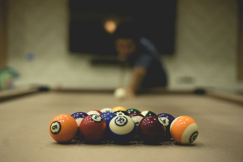 Man playing pool game