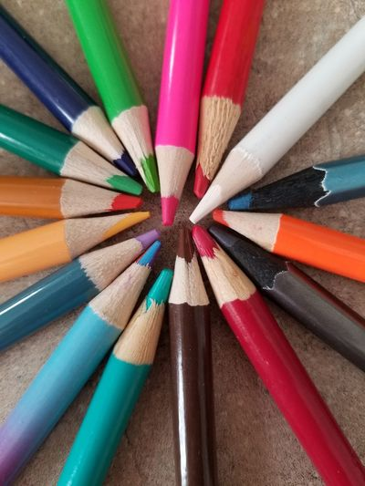 Possibly Rings Colorful Colors Colors Of The World Art Arts Culture And Entertainment Art And Craft Colored Pencil Pencil Multi Colored Close-up Table Crayon No People Indoors  Backgrounds Day The Creative - 2018 EyeEm Awards