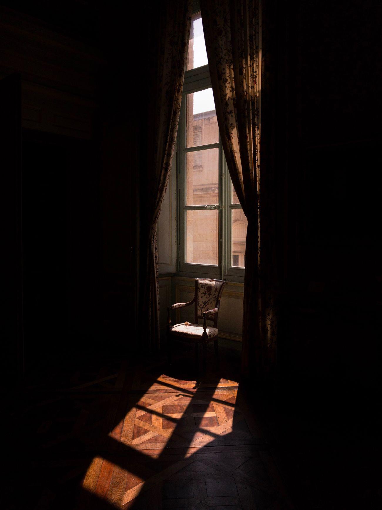 indoors, seat, dark, window, no people