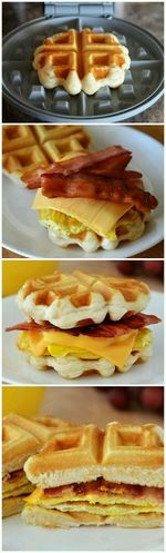 Waffle Breakfast Sandwiches Hi! Yummyinmytummy Food Porn Sexygirls Sandwiches Cooking At Home Sandwichphoto Be Sandwiched Check This Out Make It Yourself