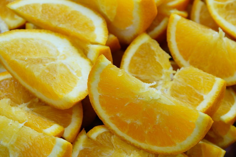 Full frame shot of oranges
