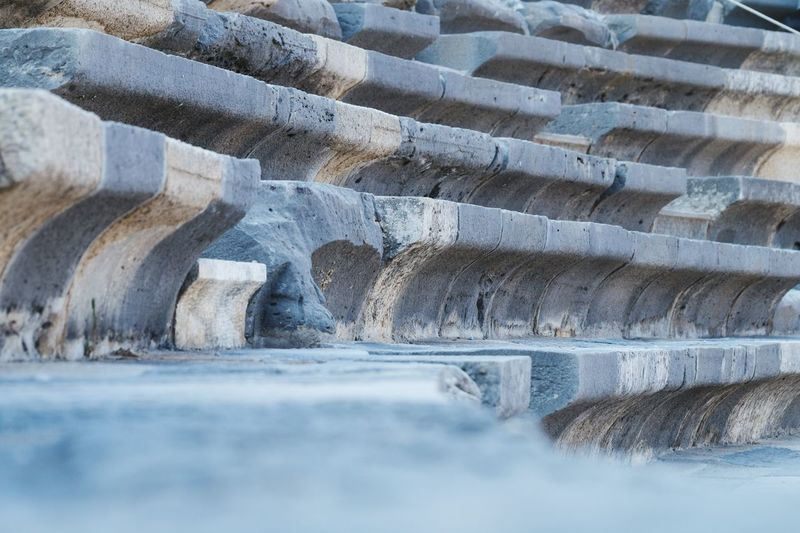 Antik Theater Selective Focus Stairs Theater Stone History Antique Background Travel Destinations Traveling Stones Steps Aspendos Ancient Theatre Aspendos  Perspective Close-up