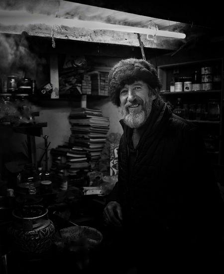 Portrait of smiling man at market