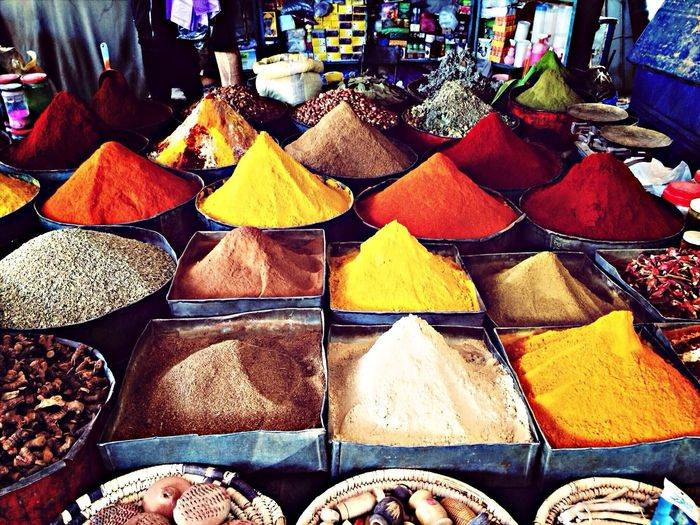 Marocco, spices Traditional Market