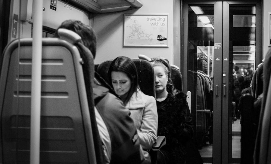 Black And White Documentary Photography Everyday Life Bnw Lifestyles Sitting Train Journey Train Station Travel