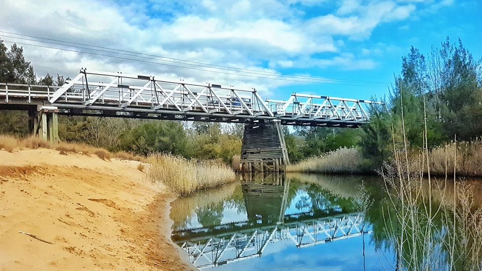 Sky Cloud - Sky Water Reflection No People Outdoors Day Nature Bridge Bridge Over Water Bridges Putty Nsw Windy Road