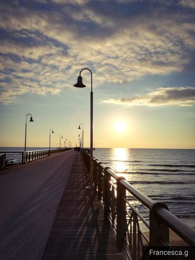 Sky Pier Vscocam Italy Photography Tflers Sea Horizon Over Water Beach Sunset Outdoors Water EyeEmNewHere