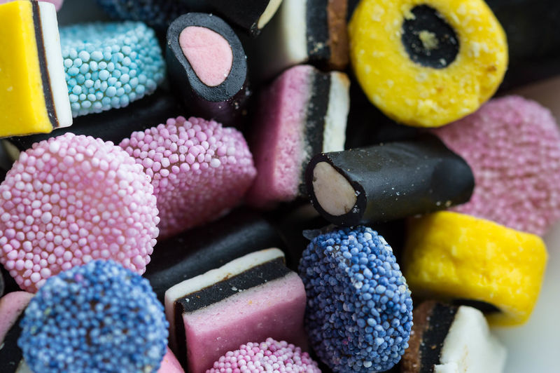 Close-Up Of Liquorice Candies For Sale At Store
