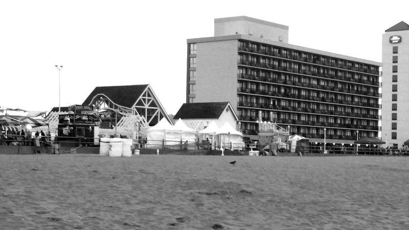 Virginia Beach Virginia Hotels Buildings City View  First Row Beach Beach Photography Sand Blackandwhite Black And White Black & White Monochrome Grayscale Tents Festival Music Festival Monochrome Photography