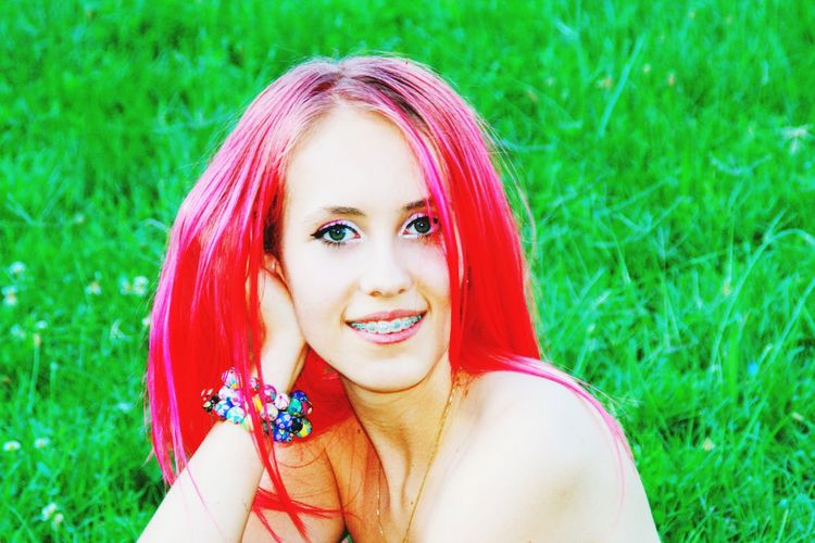Fashion punk Looking At Camera Beautiful Woman Portrait Young Adult Pink Hair Headshot Real People Lifestyles The Last Shoot