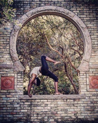 My daughter doing yoga. Yoga Pose Yogagirl Outdoors Outdoor Photography Botanical Gardens Motion