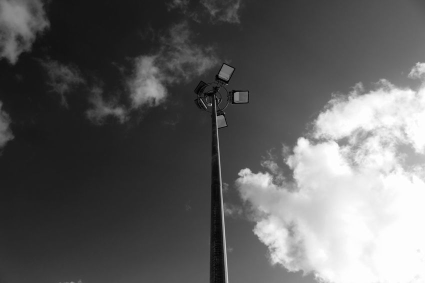 Light Pole Lights Sky And Clouds Bnw Minimalism EyeEmBestPics EyeEm EyeEmbestshots Eyeemphotography Eye4photography  Black & White Skyporn Black And White Sky_ Collection Eye4black&white  Eye4blackandwhite Blackandwhite EyeEm Bnw EyeEm Gallery Taking Photos at Praia De Carcavelos Portugal Showcase: January