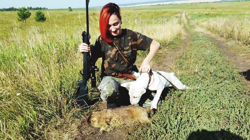 Первая охота с Майклом бультерьер Bullterrier Hunting Hunter Puppy щенок охота Природа оружие First Eyeem Photo