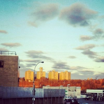 View of the Bronx from 207 Newyork City sunset buildings