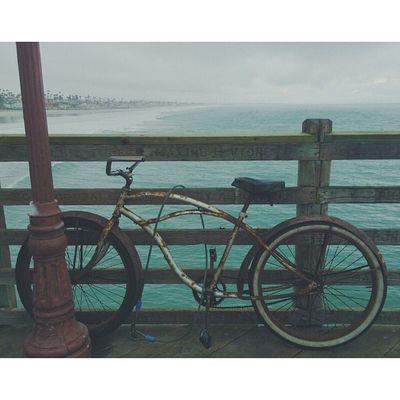 Friday Finish. Friday Bike Oldbike Rusty PierLastPostOfTheWeekBlueWaterBeachBeachVisualsVscoVscoCam