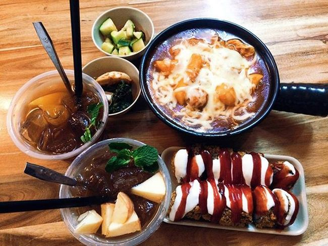 Ngon, đẹp, ưng 💋 Gimbapchien Tokbokkicheese Tradao Tratao Amazing Capseafood Foodyhanoi Hanoifood Love Hanoi 😘😘😘